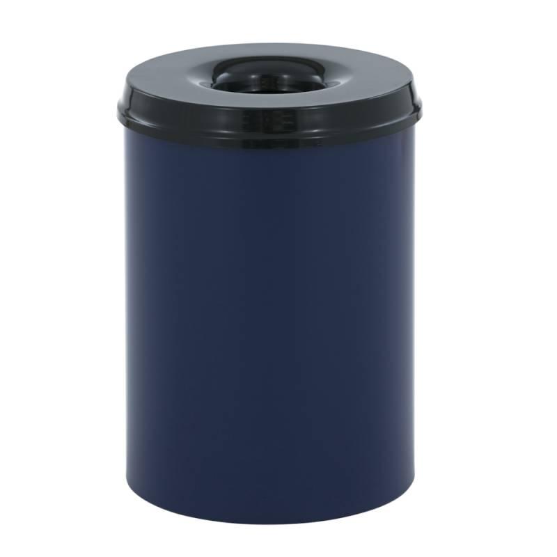 Image of   Brandhæmmende affaldsspand, 30 l, blå *Denne vare tages ikke retur*