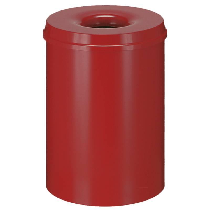 Image of   Brandhæmmende affaldsspand, 30 l, rød *Denne vare tages ikke retur*