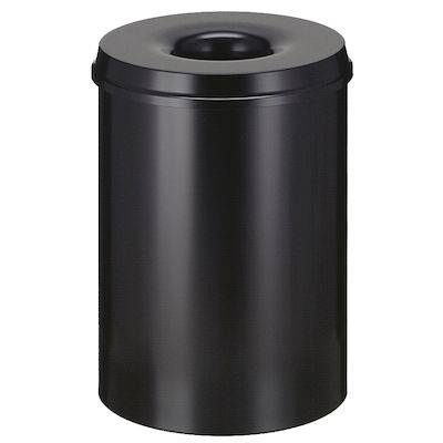 Image of   Brandhæmmende affaldsspand, 30 l, sort *Denne vare tages ikke retur*