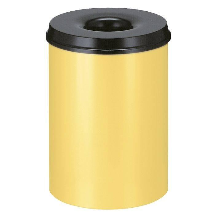 Image of   Brandhæmmende affaldsspand, 30 l, gul *Denne vare tages ikke retur*