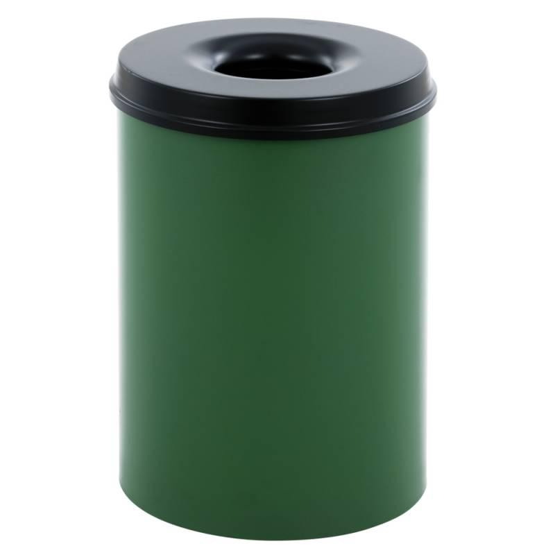Image of   Brandhæmmende affaldsspand, 30 l, grøn *Denne vare tages ikke retur*