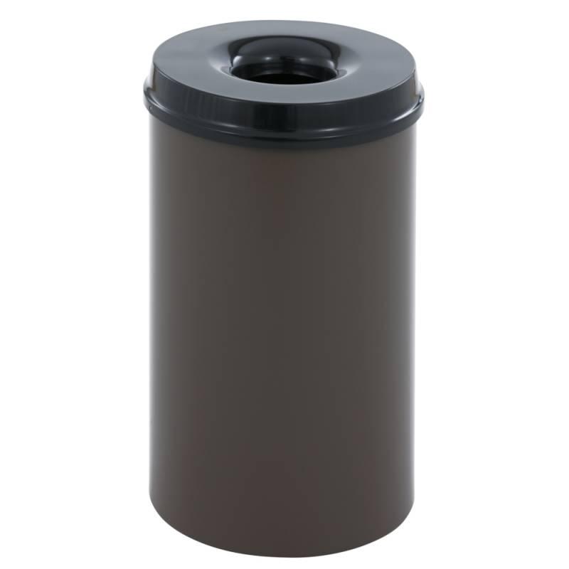 Image of   Brandhæmmende affaldsspand, 50 l, brun *Denne vare tages ikke retur*