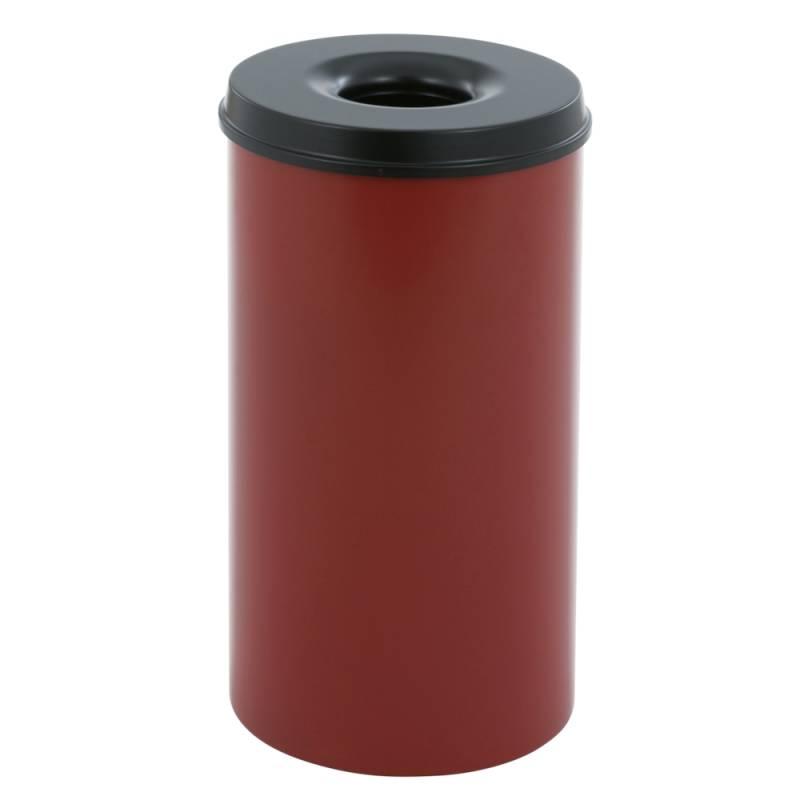 Image of   Brandhæmmende affaldsspand, 50 l, rød *Denne vare tages ikke retur*