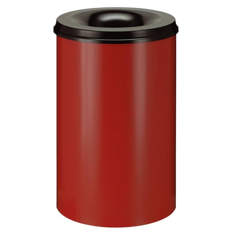 Image of   Brandhæmmende affaldsspand, 110 l, rød *Denne vare tages ikke retur*