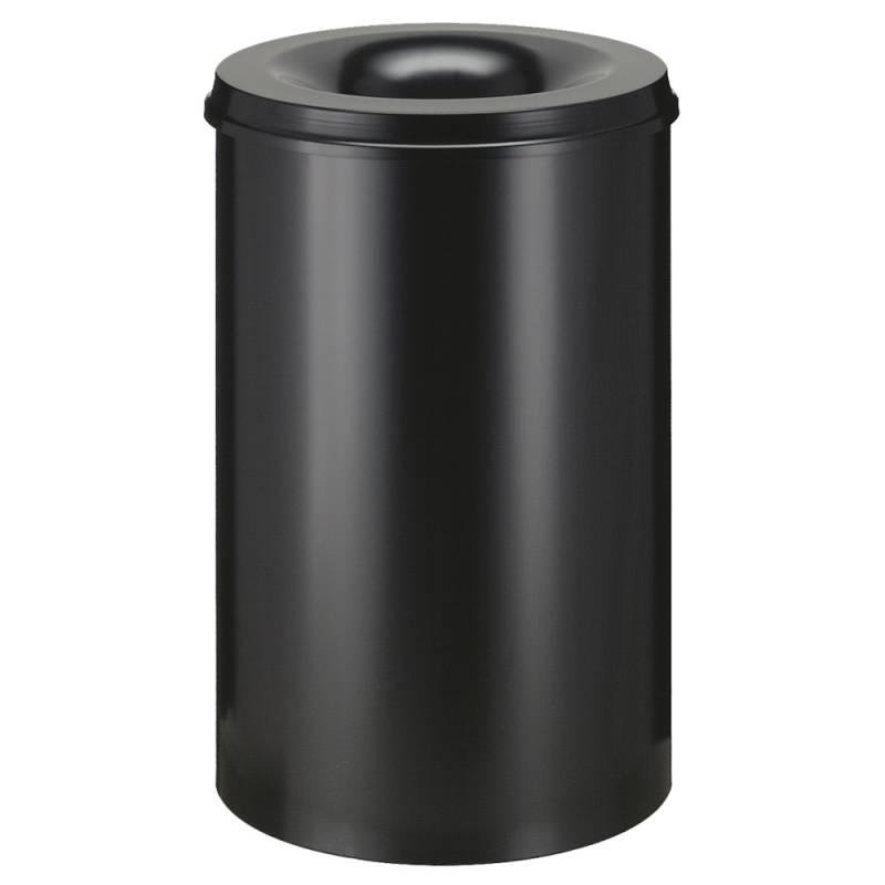 Image of   Brandhæmmende affaldsspand, 110 l, sort *Denne vare tages ikke retur*