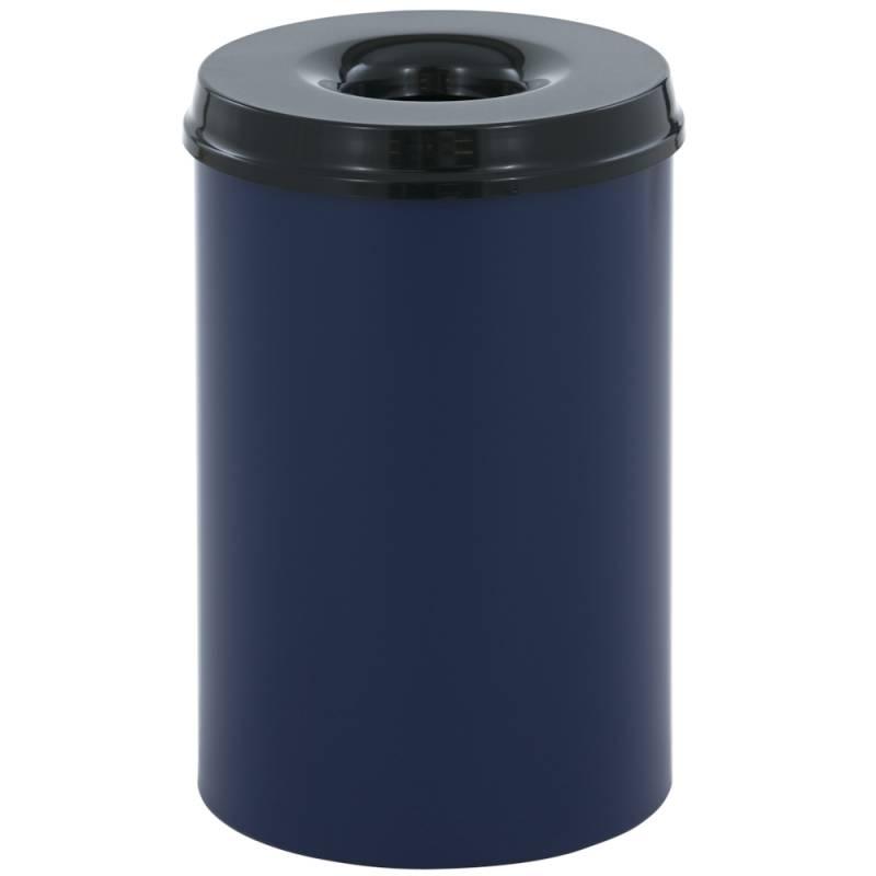 Image of   Brandhæmmende affaldsspand, 110 l, blå *Denne vare tages ikke retur*