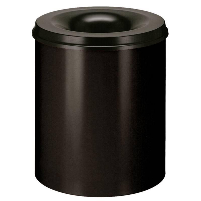 Image of   Brandhæmmende affaldsspand, 80 l, sort *Denne vare tages ikke retur*