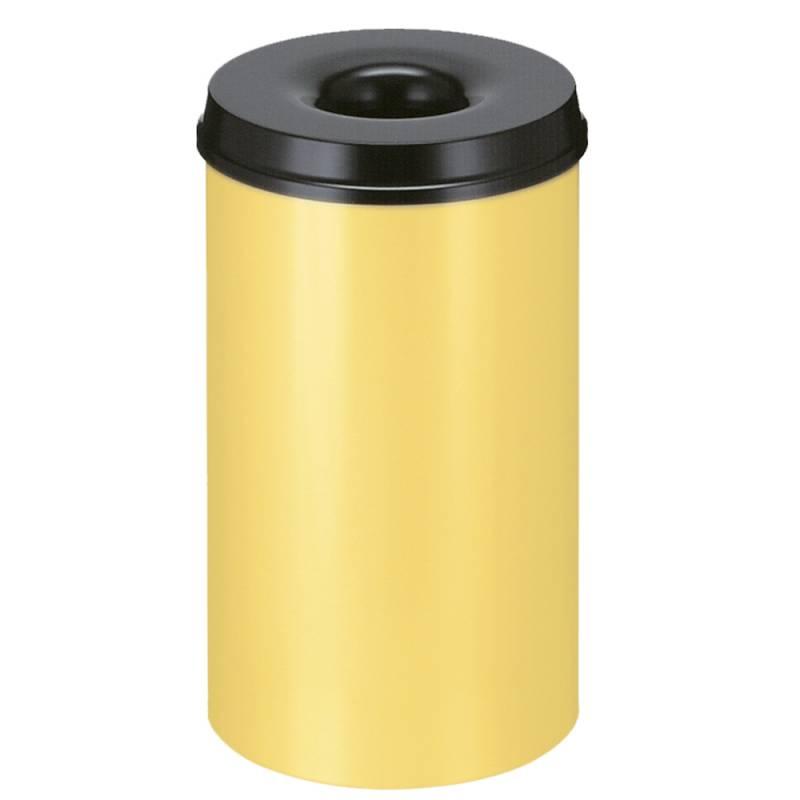 Image of   Brandhæmmende affaldsspand, 50 l, gul *Denne vare tages ikke retur*