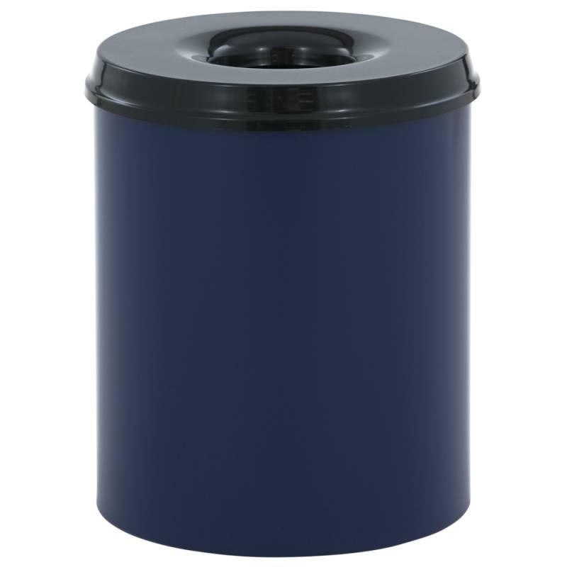 Image of   Brandhæmmende affaldsspand, 80 l, blå *Denne vare tages ikke retur*