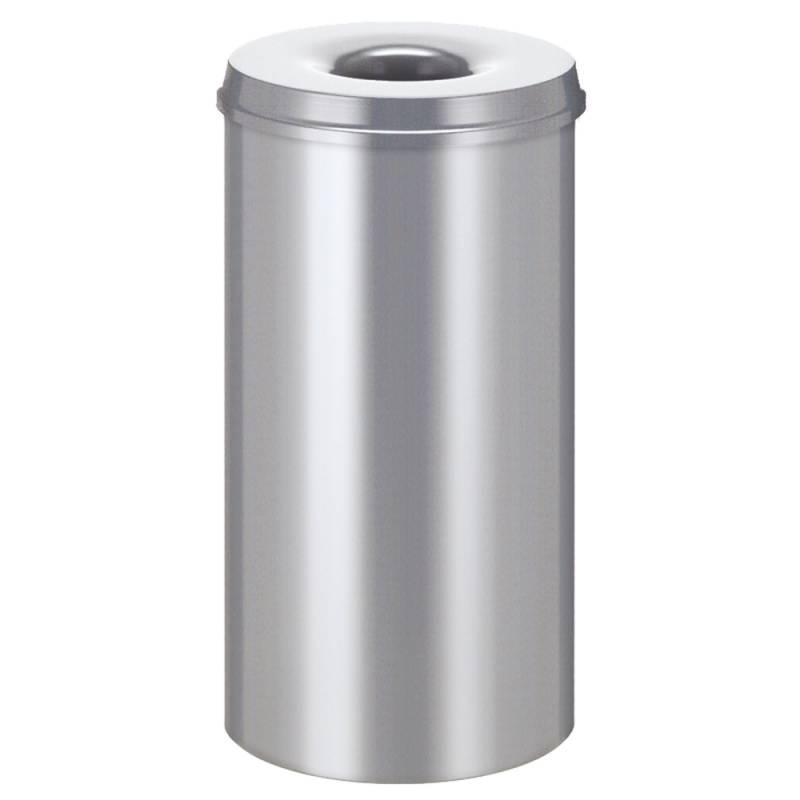 Image of   Brandhæmmende affaldsspand, 50 l, sølv *Denne vare tages ikke retur*