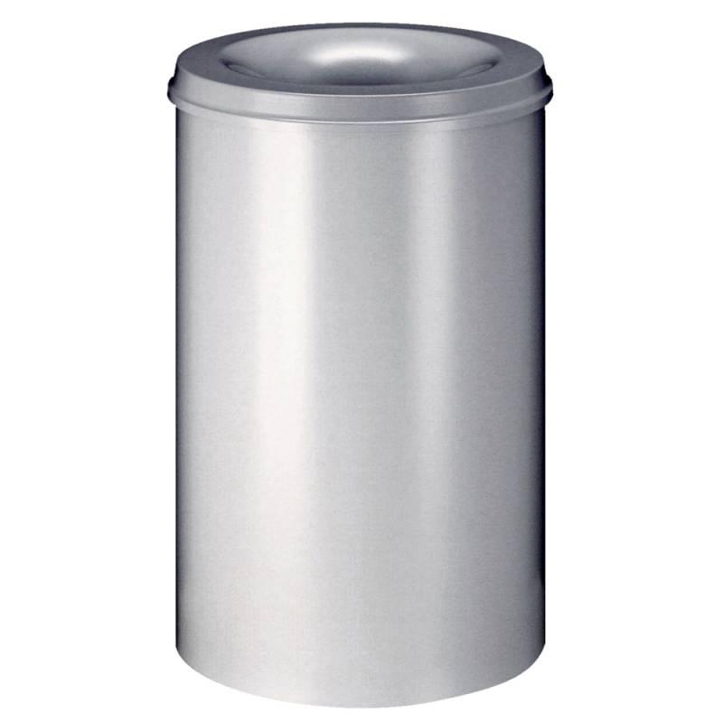 Image of   Brandhæmmende affaldsspand, 110 l, sølv *Denne vare tages ikke retur*
