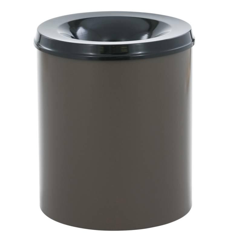 Image of   Brandhæmmende affaldsspand, 80 l, brun *Denne vare tages ikke retur*