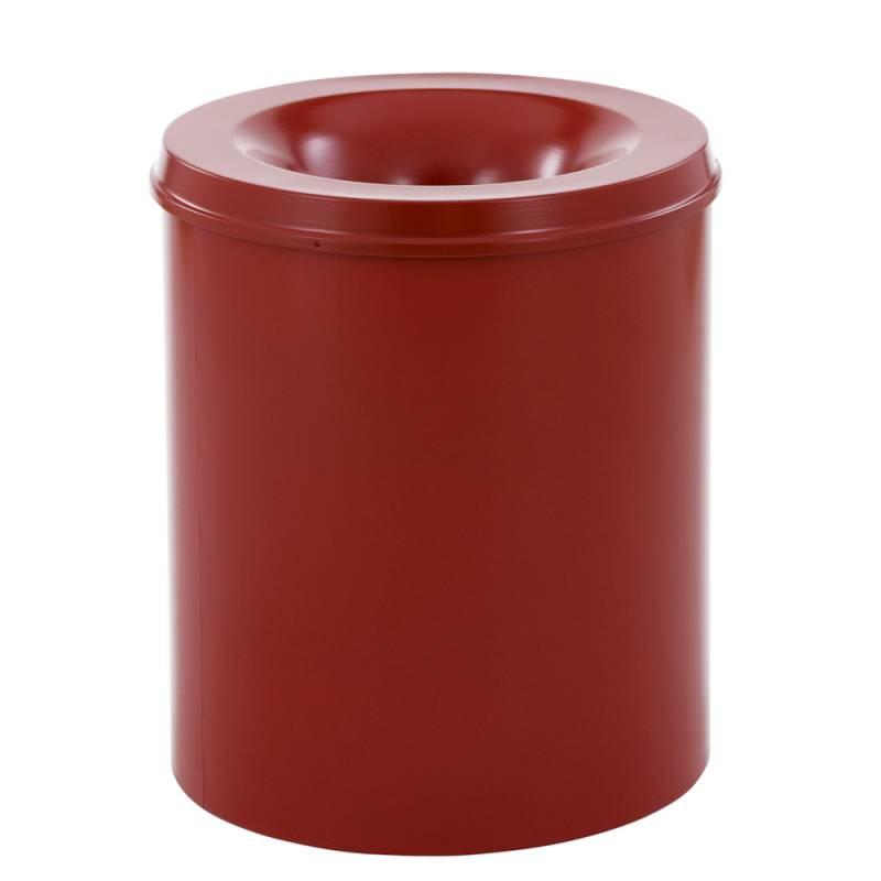 Image of   Brandhæmmende affaldsspand, 80 l, rød *Denne vare tages ikke retur*