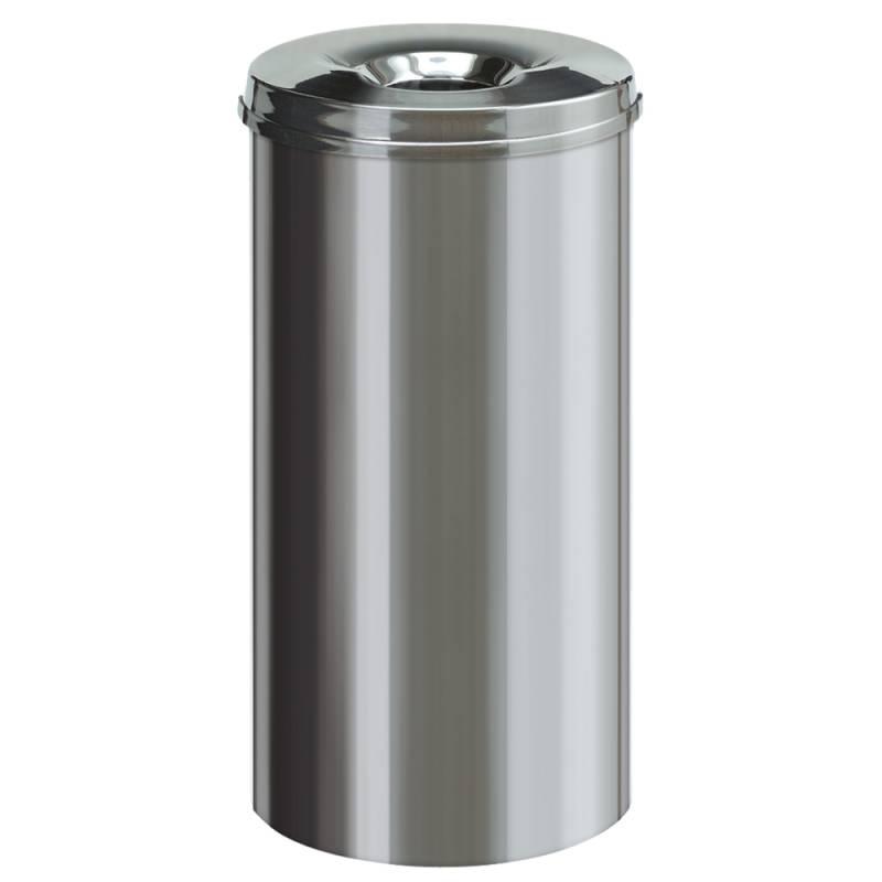 Image of   Brandhæmmende affaldsspand, 50 l, stål *Denne vare tages ikke retur*
