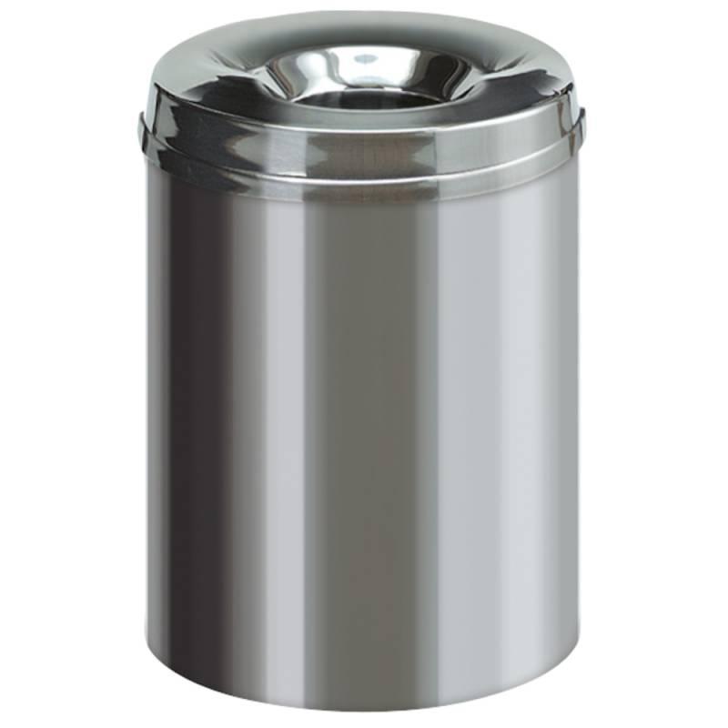 Image of   Brandhæmmende affaldsspand, 15 l, stål *Denne vare tages ikke retur*