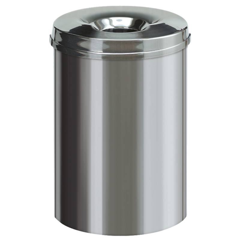 Image of   Brandhæmmende affaldsspand, 30 l, stål *Denne vare tages ikke retur*