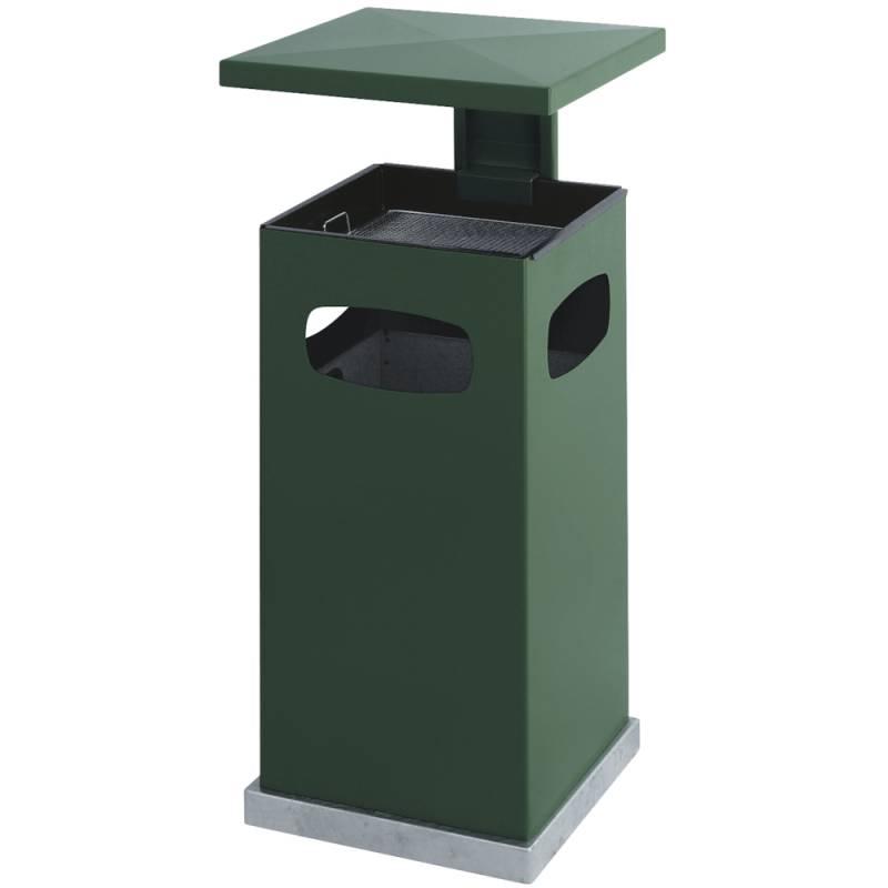 Image of   Affaldsspand med askebæger, 70 l, grøn *Denne vare tages ikke retur*
