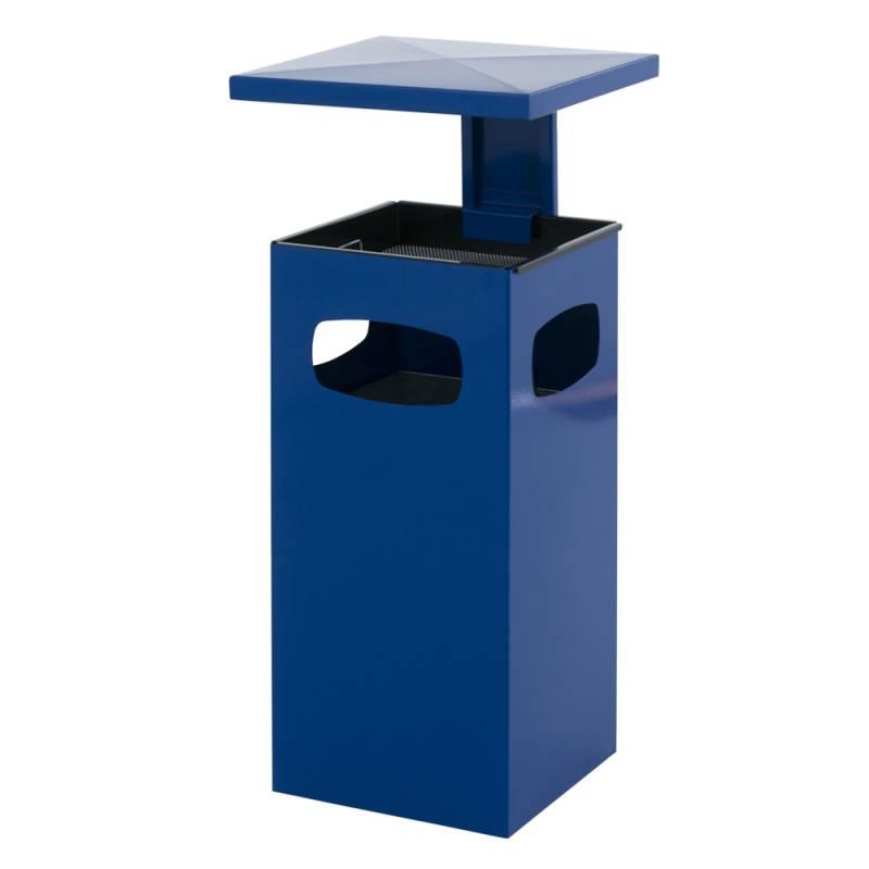 Affaldsspand med askebæger, 70 l, blå *Denne vare tages ikke retur*