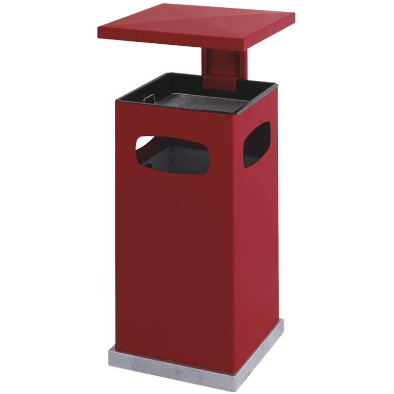 Image of   Affaldsspand med askebæger, 70 l, rød *Denne vare tages ikke retur*