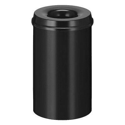 Image of   Brandhæmmende affaldsspand, 20 l, sort *Denne vare tages ikke retur*