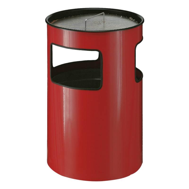 Image of   Affaldsspand med askebæger, 110 l, rød *Denne vare tages ikke retur*
