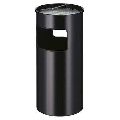 Affaldsspand med askebæger, 50 l, sort *Denne vare tages ikke retur*