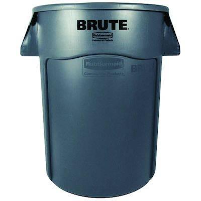 Image of   Affaldsspand, Rubbermaid Brute, 167 l, grå *Denne vare tages ikke retur*