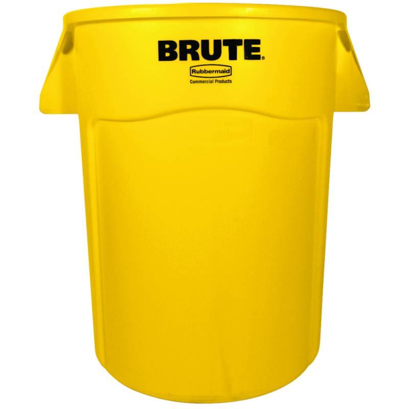 Image of   Affaldsspand, Rubbermaid Brute, 167 l, gul *Denne vare tages ikke retur*