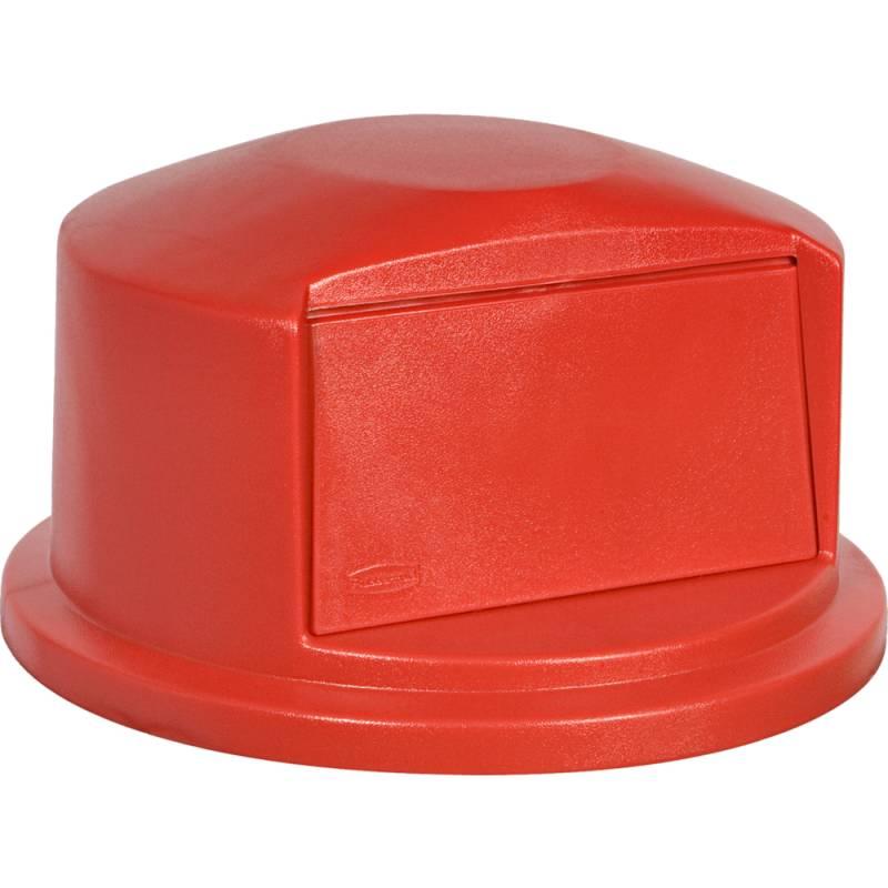 Image of   Låg, Rubbermaid Brute, rød, til 167 l BRUTE container, med push klap *Denne vare tages ikke retur*