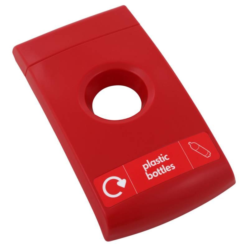 Image of   Låg, Enviro, rød, med rundt indkast, til flasker *Denne vare tages ikke retur*