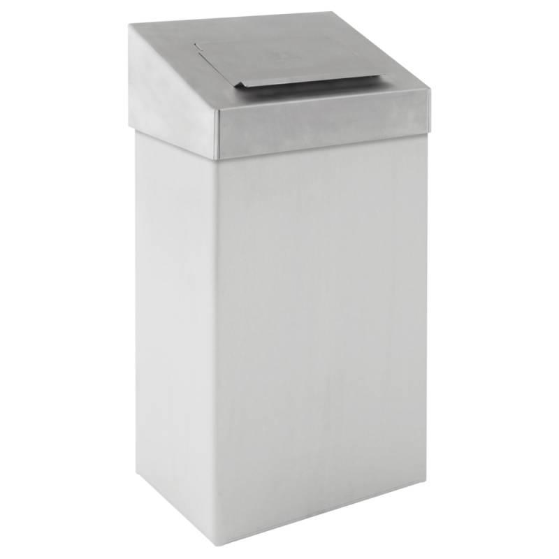 Hygiejne beholder, 18 l, hvid, forberedt til vægmontering *Denne vare tages ikke retur*