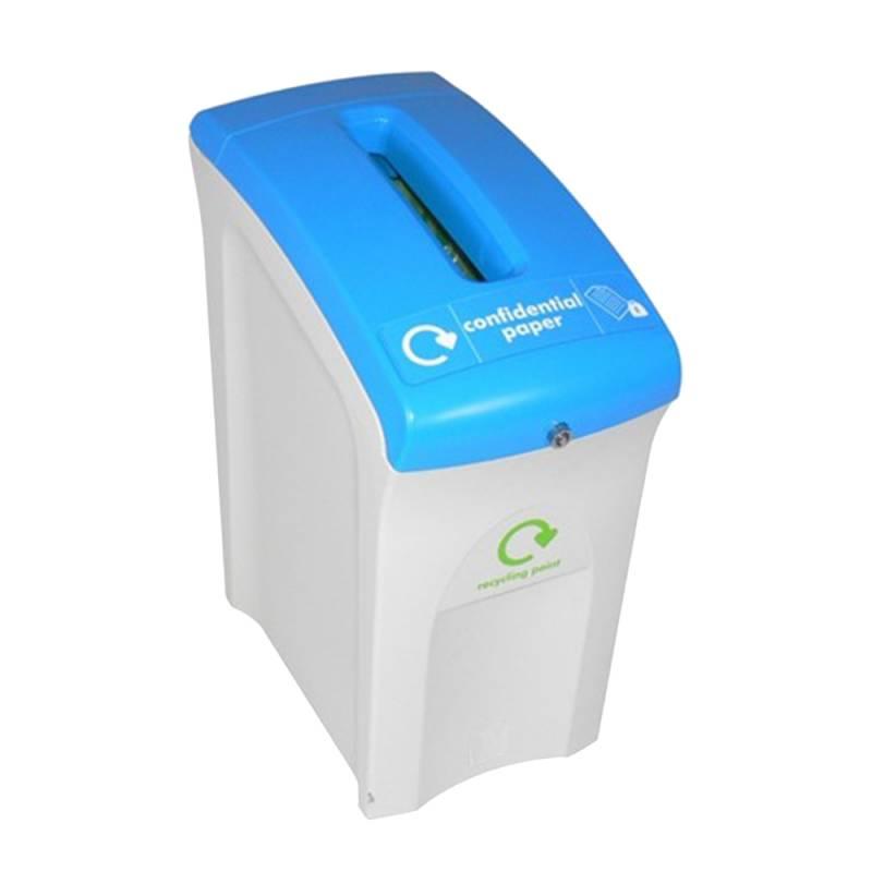 Image of   Affaldsspand, Enviro, 55 l, grå, til fortrolige papirer, med nøgle *Denne vare tages ikke retur*