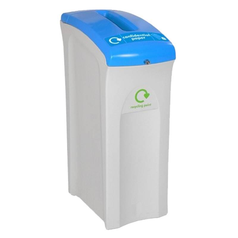 Image of   Affaldsspand, Enviro, 82 l, grå, til fortrolige papirer, med nøgle *Denne vare tages ikke retur*
