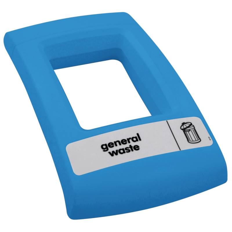 Image of   Låg, Enviro, blå, med åbent indkast, til alle typer affald *Denne vare tages ikke retur*