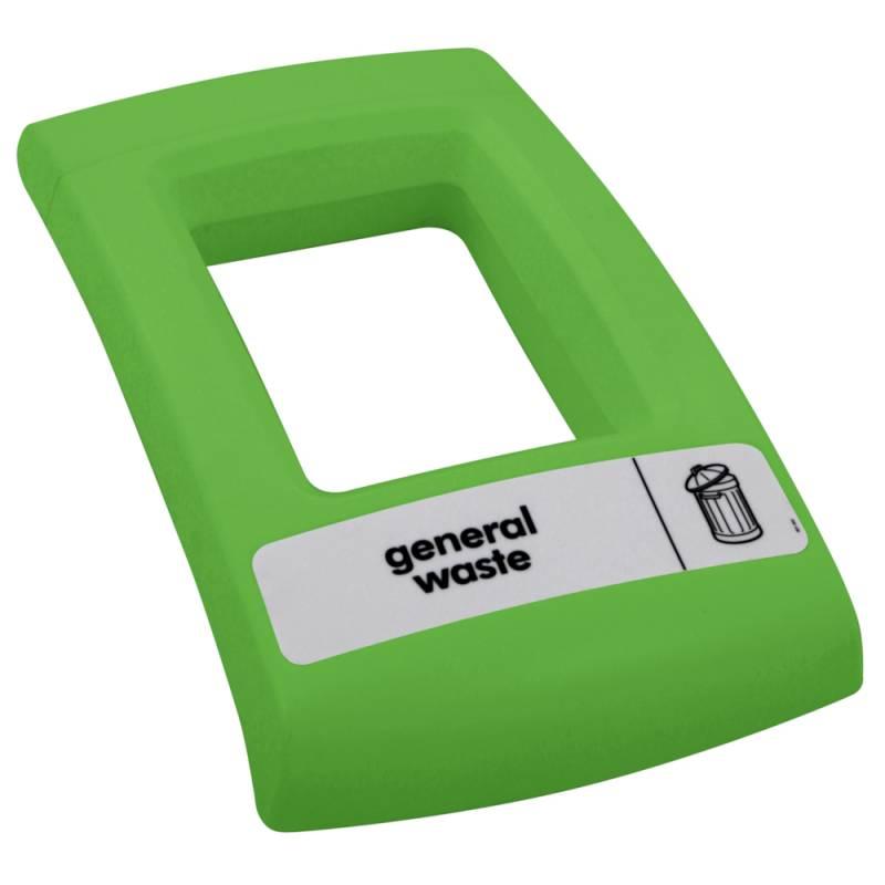 Image of   Låg, Enviro, grøn, med åbent indkast, til alle typer affald *Denne vare tages ikke retur*