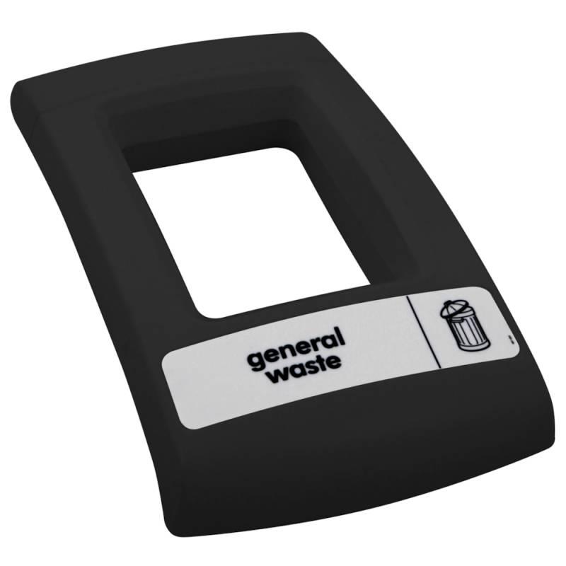 Image of   Låg, Enviro, sort, med åbent indkast, til alle typer affald *Denne vare tages ikke retur*