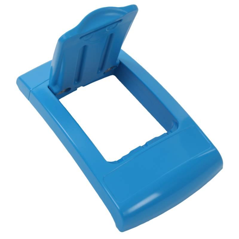 Image of   Låg, Enviro, blå, med klaplåg, til alle typer affald *Denne vare tages ikke retur*