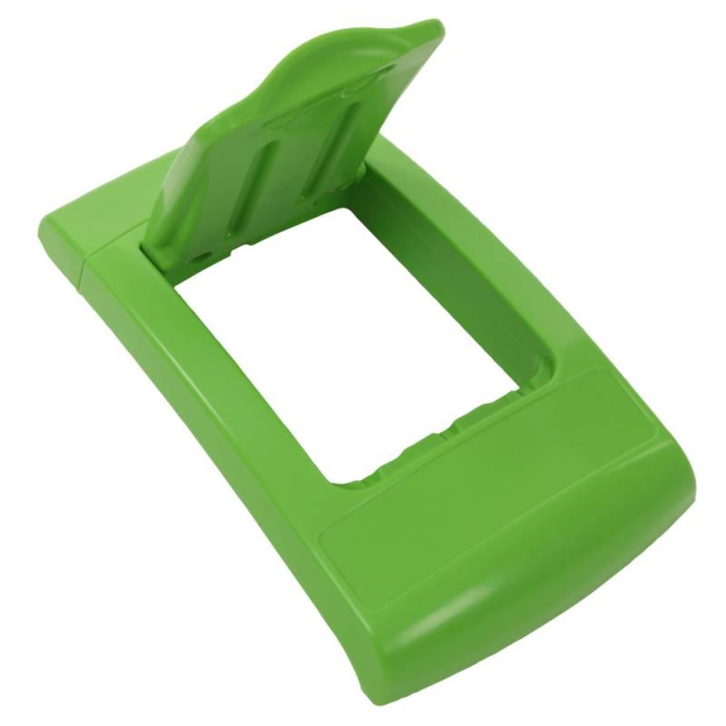 Image of   Låg, Enviro, grøn, med klaplåg, til alle typer affald *Denne vare tages ikke retur*