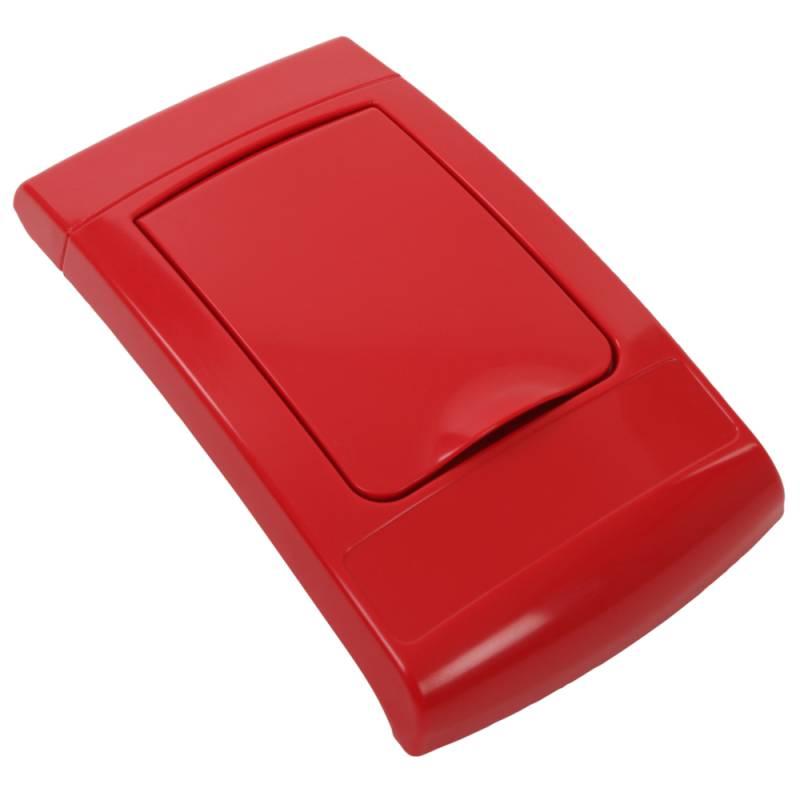 Image of   Låg, Enviro, rød, med klaplåg, til alle typer affald *Denne vare tages ikke retur*
