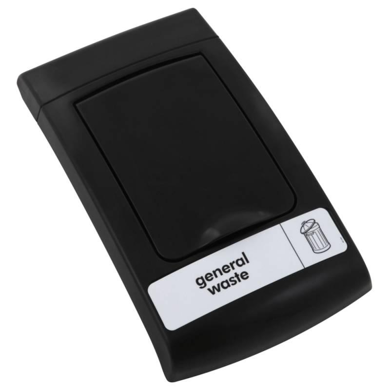 Image of   Låg, Enviro, sort, med klaplåg, til alle typer affald *Denne vare tages ikke retur*