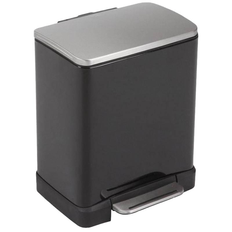 Image of   Pedalspand, EKO E-cube, 19 l, sort, 2-rums *Denne vare tages ikke retur*