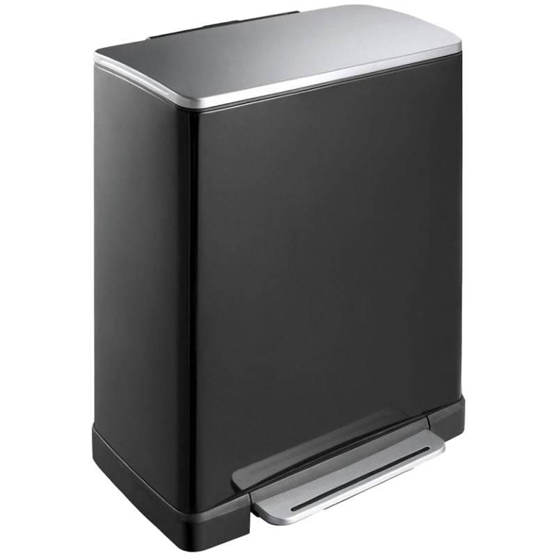 Image of   Pedalspand, EKO E-cube, 46 l, sort, 2-rums *Denne vare tages ikke retur*
