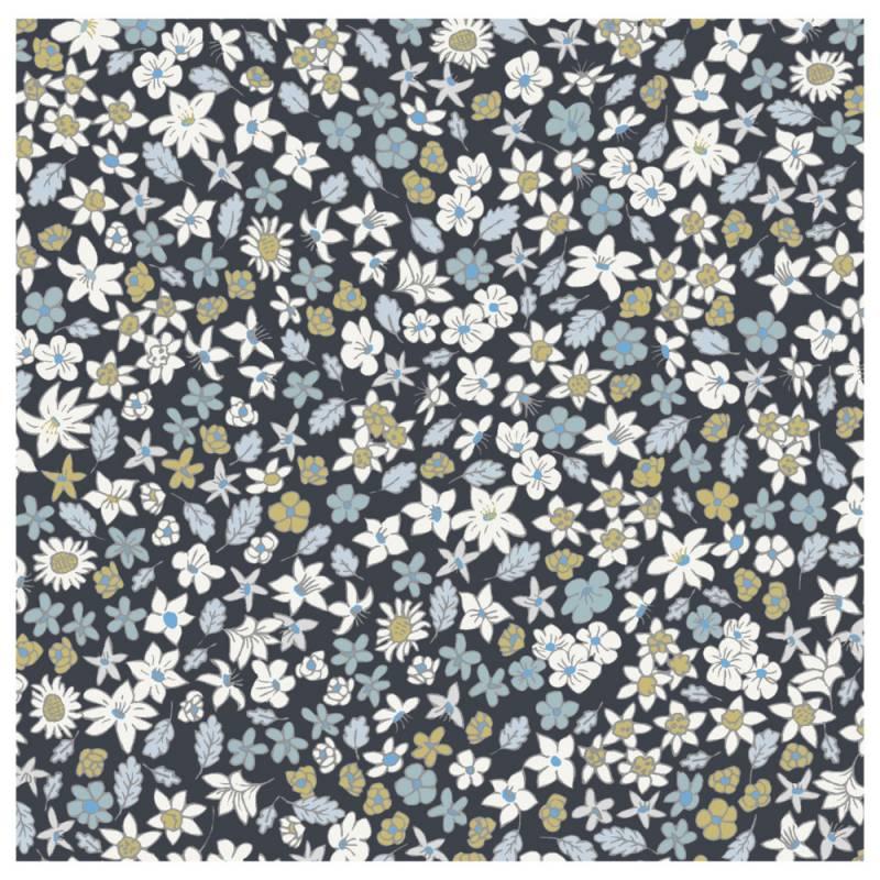 Image of   Frokostserviet, ASP-Holmblad, 3-lags, 1/4 fold, 33x33cm, flerfarvet, papir, små blomster