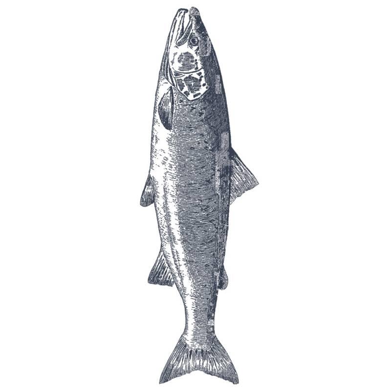 Image of   Frokostserviet, ASP-Holmblad, 3-lags, 1/8 fold, 33x42cm, flerfarvet, papir, fisk