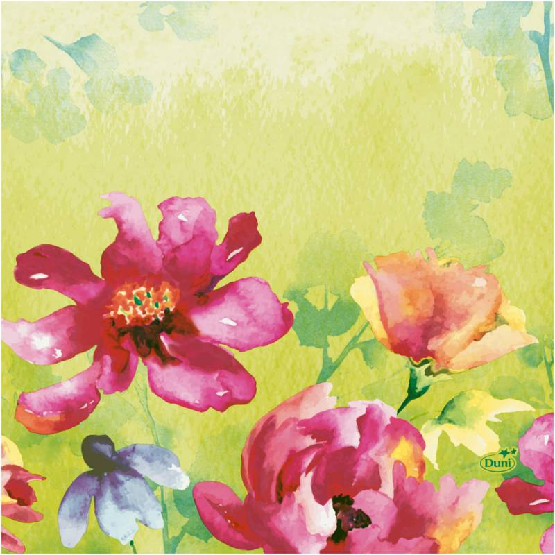 Image of   Frokostserviet, Duni Garden Joy, 3-lags, 1/4 fold, 33x33cm, flerfarvet, papir