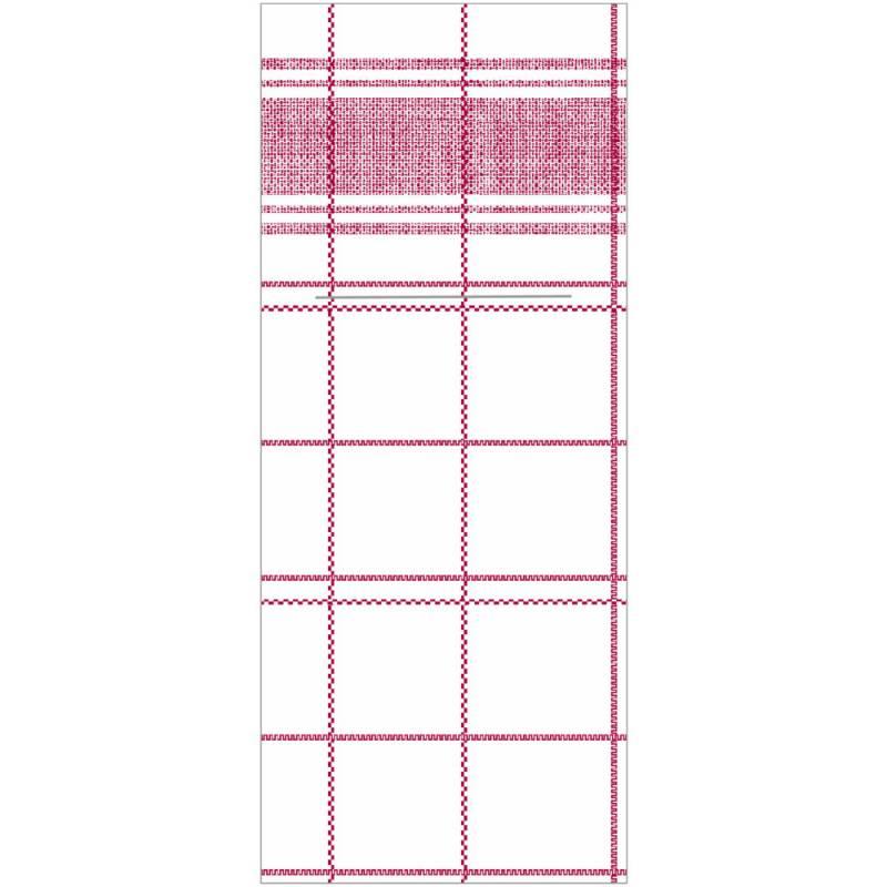 Image of   Bestikserviet, Nadeem, 1/8 fold, 48x40cm, bordeaux, Linclass/airlaid