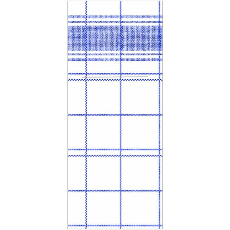 Image of   Bestikserviet, Nadeem, 1/8 fold, 48x40cm, blå, Linclass/airlaid