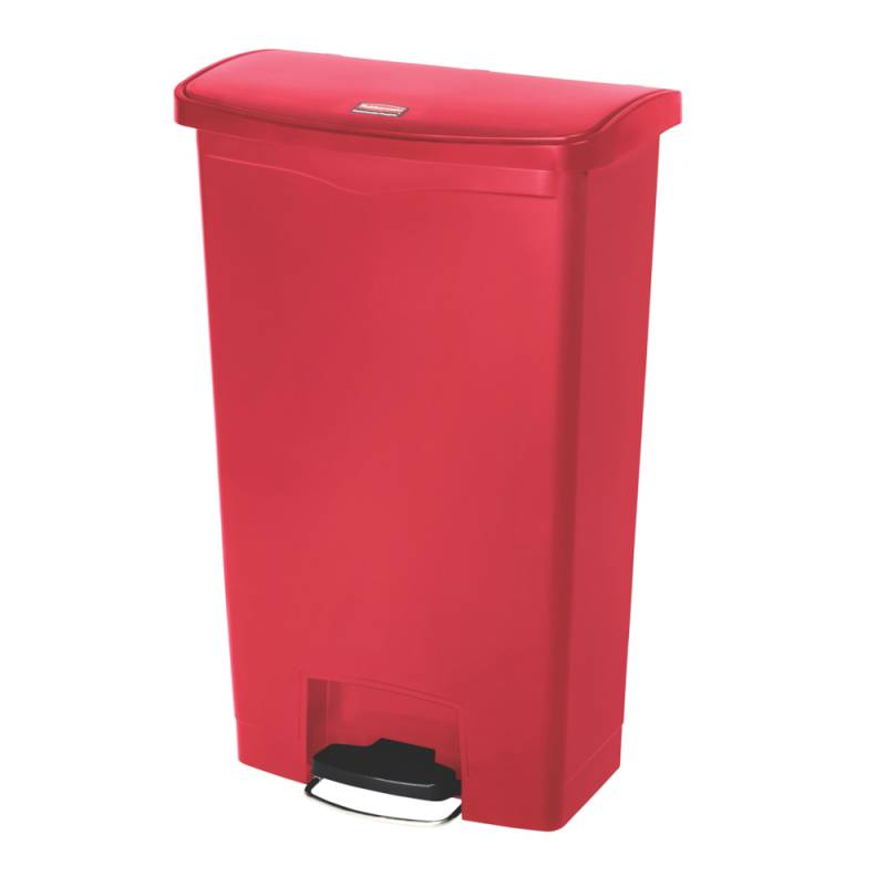 Image of   Pedalspand, Rubbermaid Step-on, 90 l, rød *Denne vare tages ikke retur*