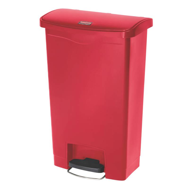 Image of   Pedalspand, Rubbermaid Step-on, 50 l, rød *Denne vare tages ikke retur*