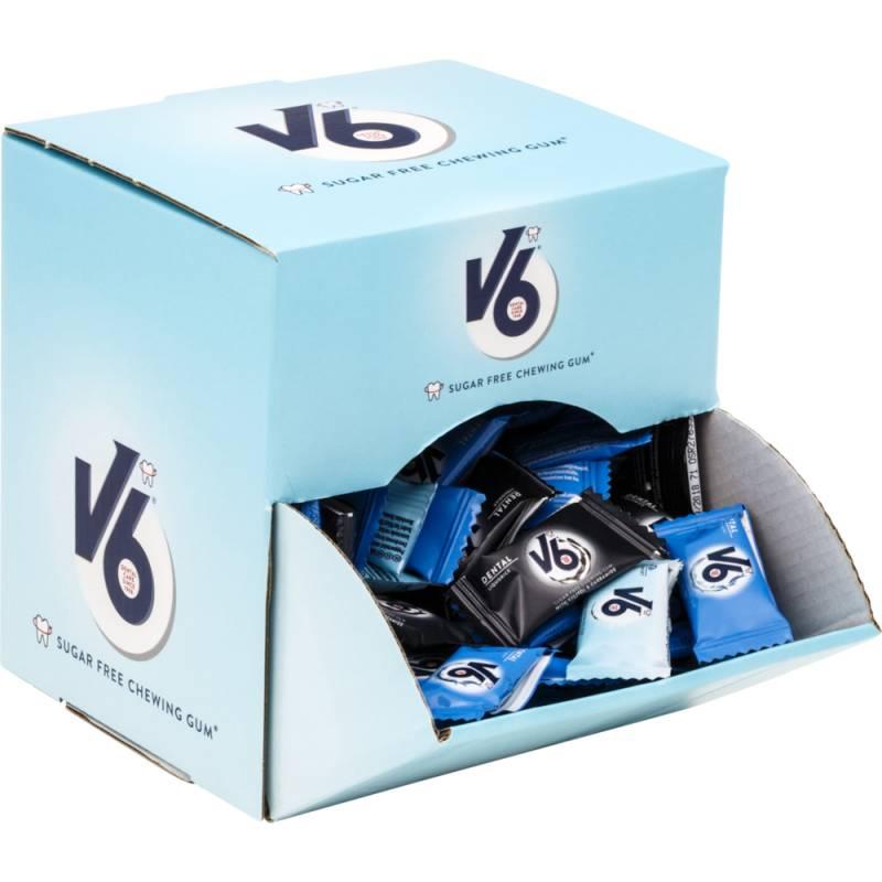 Image of   Tyggegummi, V6, assorteret, displayboks, 2-pak, 500 g *Denne vare tages ikke retur*